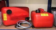 2x Quicksilver 25 Litre Fuel Tank And 8ft Fuel Line For Mariner Mercury Outboard