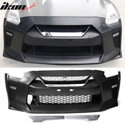 Fits 09-22 Nissan R35 Gtr Upgrade 09-16 To 17+ Front Bumper Cover Conversion