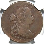 1798 S-167 Ngc Vf 25 2nd Hair, Large 8 Draped Bust Large Cent Coin 1c