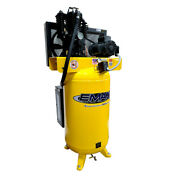 Emax Es05v080i1 Industrial 5 Hp 80 Gal Oil-lube Stationary Air Compressor New