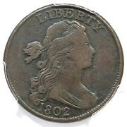 1802 S-235 R-3 Pcgs Vf 25 Draped Bust Large Cent Coin 1c
