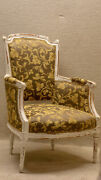 Pair Of French Louis Living Room Chairs Newly Upholstered And Restored 19th C