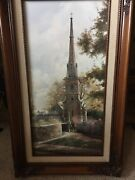 Marty Bell Cotswold Parrish Church And Surry Garden House Collection. Rare Find
