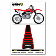 2003 - 2017 Honda Crf 230 Ribbed Gripper Seat Cover By Enjoy Mfg Red/black/red