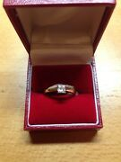New 18ct Princess Cut Diamond Single Stone Ring 0.41cts And039nand039 Rrp Andpound2250
