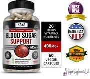 Blood Sugar Support Supplement 60 Capsules Natural Control And Blood Regulator