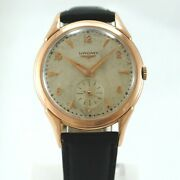 Longines 18k Pink Gold Reference 6382-3 Automatic Case 35 Mm.