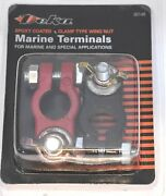 2 New Marine Epoxy Coated Battery Terminals And Wing Nuts 1 Positive 1 Negative