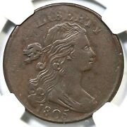 1805 S-268 R-3 Ngc Vf 25 Draped Bust Large Cent Coin 1c