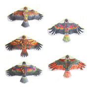 1pc Big Flying Flat Eagle Bird Kite And String For Kids Windsock Outdoor Toys