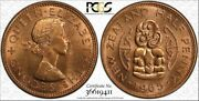 1965 New Zealand Half Penny Pcgs Ms64rd High Graded Toned Coin