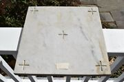 + Nice Older Marble Altar Stone + Ready To Mount Your Relics Cu140 Chalice Co.