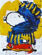 Tom Everhart March Vogue Peanuts Cool Snoopy Hand Signed Lithograph Coa Mint