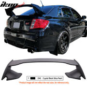Fit 08-14 Wrx 08-11 Sti Painted D4s Crystal Black Silica Pearl Trunk Spoiler
