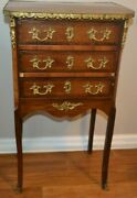 Antique Late 19th Century Louis Xv Style French Chest Of Drawer Commode