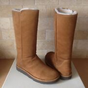 Ugg Abree Ii Bruno Suede Shearling Zip Classic Tall Boots Size Us 9 Womens New
