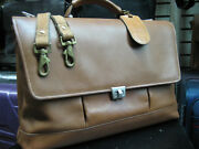 Vintage Hartmann American Leather Attache Briefcase Bag Mens With Strap