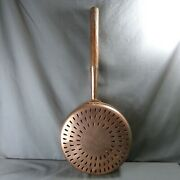 French Antique Copper Bed Warmer/warming Pans With Wooden Handle