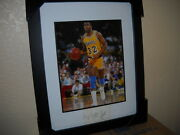 Nice Autograph Of Magic Johnson On A Card From The Los Angeles Lakers