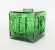 Antique Vintage Green Cube Lamp Glass Lightshade Lampshade