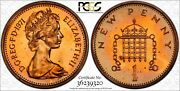 1971-1p Great Britain Bu Pcgs Pr62rd New Penny Toned Excellent Condition