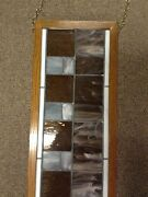 Antique Vintage Deco Style Stain Glass Transom Window 14 3/8 X 61 3/8