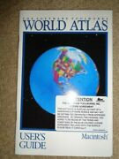 1991 Apple Macintosh System Software User's Guide Toolworks World Atlas Manual