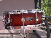 Pdp Pacific By Dw 14 Snare Drum Fs Birch Shell Tobacco Burst For Set Lot A105