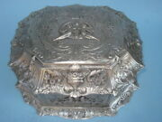 English Silver Plated -- Jewelry Chest -- By Cross Of London -- Circa 1900
