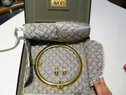 Avon Vintage 100th Anniversary Jewelry Box And Original Necklace And Earring Set
