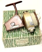 Vintage Antique True Temper 333 Fishing Saltwater Reel Spool Made Italy Case Old