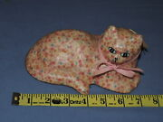 Country Americana Collections Pink Calico Cat Figurine