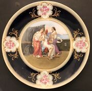 Rare Huge Antique Hand Painted Royal Vienna Charger