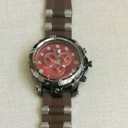 Jumbo Gunmetal Menand039s Watch Red Dial On Brown Bullet Band Ethan Elite New Style