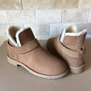 Ugg Mckay Chestnut Suede Shearling Short Ankle Boots Size Us 7 Womens