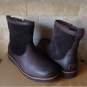 Ugg Hendren Tl Stout Brown Waterproof Leather Warm Work Boots Size Us 7 Mens
