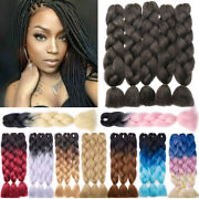5x Ombre Synthetic Highlights Jumbo Braiding Hair Extension Afro Twist Box Braid