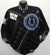 Indianapolis Colts Nfl On Point Blk Twill Jacket Lg Team Apparel New Andrew Luck