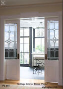 Beautiful Interior Pocket Doors With 3/4 Glass With Heritage Design Panels