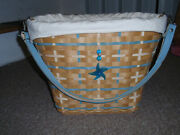 Longaberger 2006 Hostess Only Coastal Tote W/prot, Liner And Tie-on, New