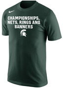 Nike Michigan State Nets Rings Banners Team Pride Shirt Champs Men Spartans Pe
