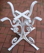C 1920-30s Rare Antique Iron Footed Table Base-scrollwork 26-1/4 Sale 225/obo