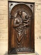 Summer Sale Early Oak Flemish Gothic Madonna And Child/church Piece/medieval