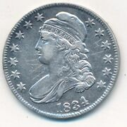 1834 Capped Bust Silver Half Dollar-strong Details Graffiti-ships Free Inv4