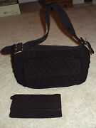 Womens Cute Vera Bradley Black Purse And Matching Wallet/ Christmas Gifts For Her