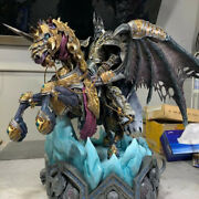 Coreply Wow Invincible Resin Statue Painted Model Sculpture Stand For Lich King