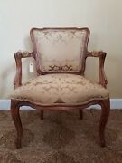 French Louis Xv 17th. C. Style Antique Reproduction Fauteuil Armchair