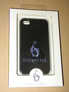 Resident Evil 6 Official Capcom Iphone 4 And 4s Skin Hard Cover Case Black New