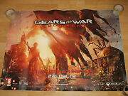Gears Of War Judgment Xxl Sticker Poster Extremely Rare Very Detailed 110x80cm