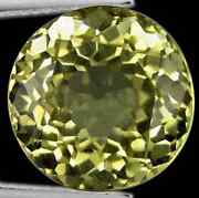 9.03 Cts Rare Natural Round-cut Flashingfire Yellow Vvs Scapolite Africa